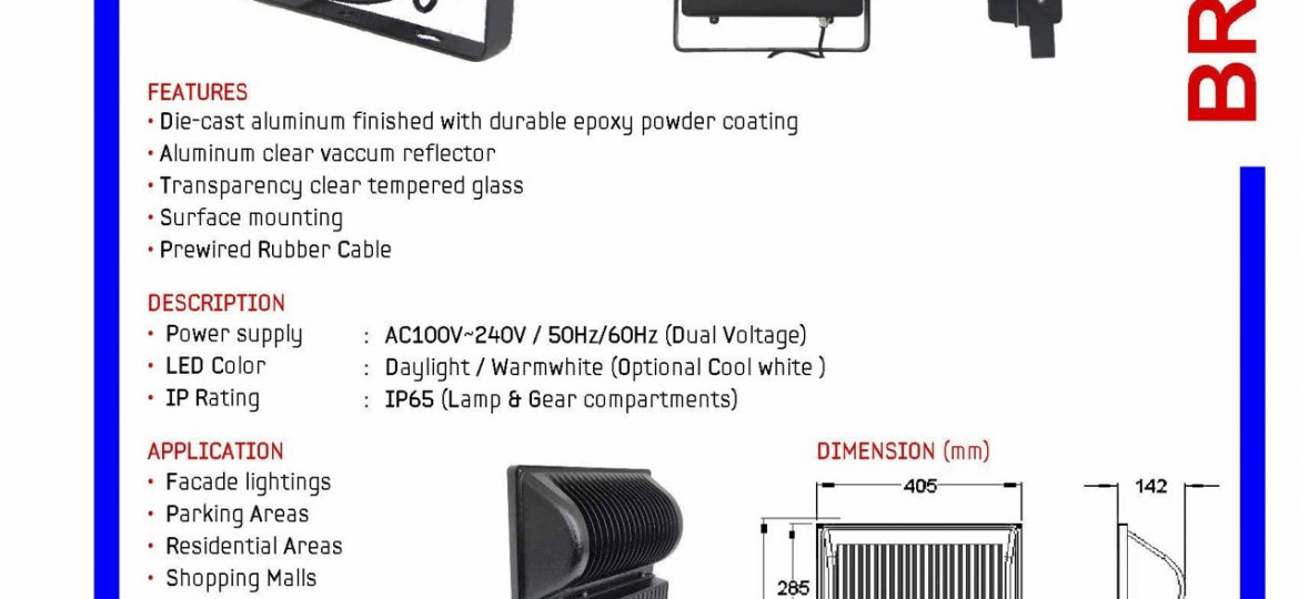 122 200w SQUARE LED FLOODLIGHT 9.3kg