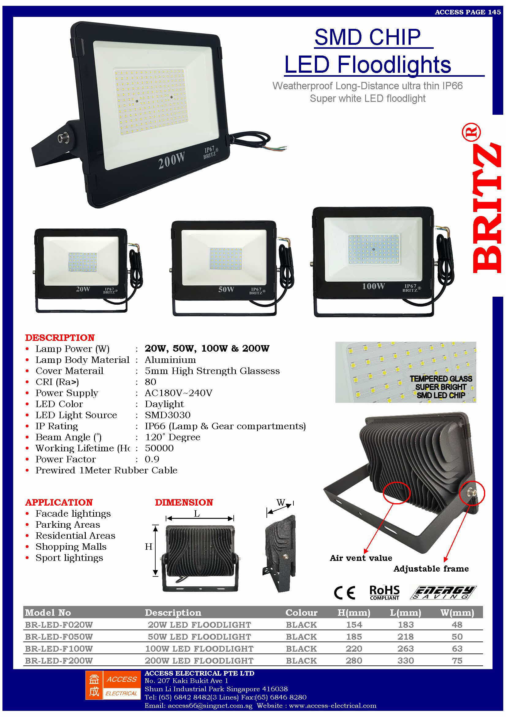 """""""F"""" SERIES LED OUTDOOR FLOODLIGHT"""