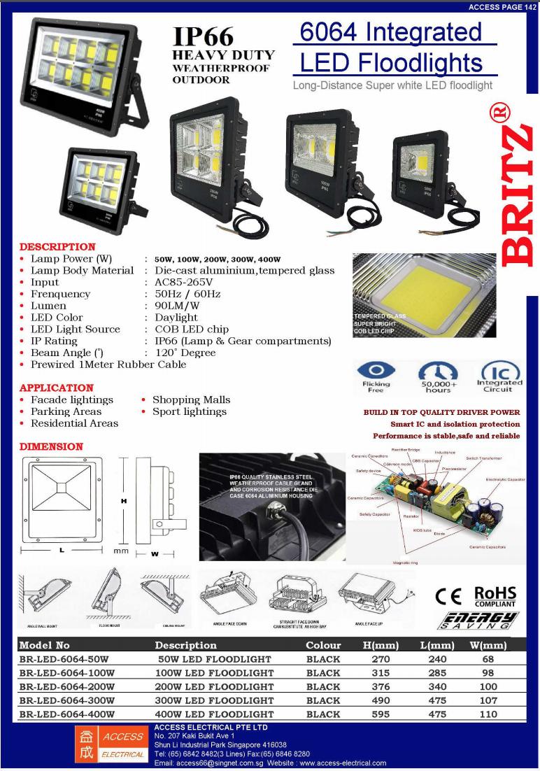 6064 INTEGRATED LED FLOODLIGHT